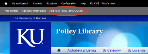 Add New Policy PDF/DOC/Link